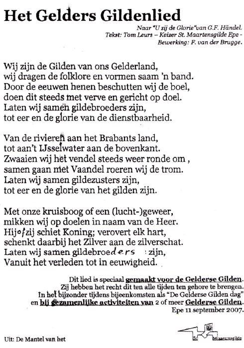 Het Gelderse Gildenlied